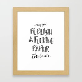 Publish A Paper Framed Art Print