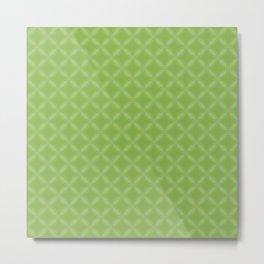 Greenery Green Geometric Circle Pattern Metal Print