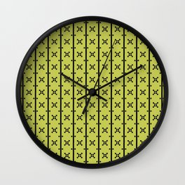 Squares and Stripes in Citrine #pattern #squares #stripes Wall Clock