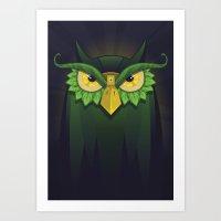 Royal Owl Art Print