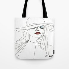 Blue Eyeshadow Tote Bag