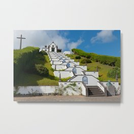 Chapel in Azores islands Metal Print
