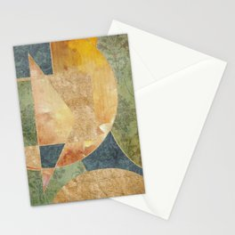 Abstract Grunge Patchwork Stationery Cards