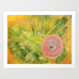 Through a Blow Fish Eye Art Print