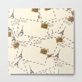 Paris Envelopes Metal Print