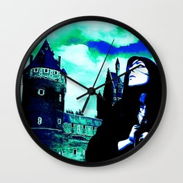 Luna and The Lady of The Lost Arts Wall Clock