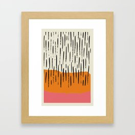 Lines abstract color box Framed Art Print