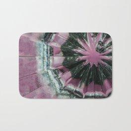 Black and pink abstract Bath Mat