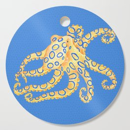 Blue Ring Octopus Cutting Board