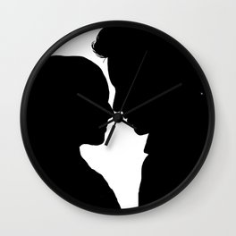 Marius & Cosette - A Heart Full of Love Silhouette Minimalist Wall Clock