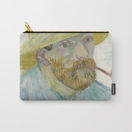Self-Portrait with Pipe and Straw Hat Carry-All Pouch