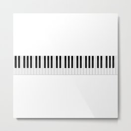 Piano / Keyboard Keys Metal Print