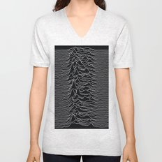 Unknown Radio Waves - Unknown Pleasures Unisex V-Neck