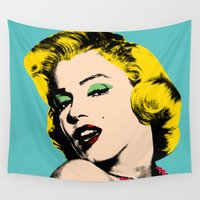 monroe Wall Tapestries featuring Marilyn by mark ashkenazi