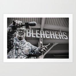 Harry Caray Statue - Wrigley Field's Bleachers Art Print