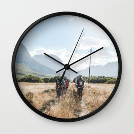 Summer Hiking in South Africa Wall Clock