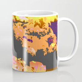 Dawn Of The Flower Market Color Slapped Coffee Mug