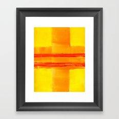 Yellow Intersection Framed Art Print