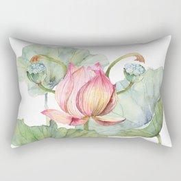 Lotus Metaphor for Feminine Beggining Rectangular Pillow