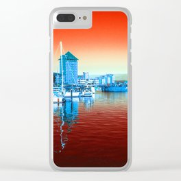 Swansea Red Clear iPhone Case