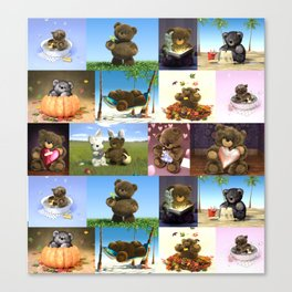 Teddy Compilation Canvas Print