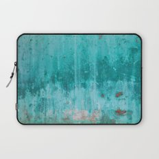 Weathered turquoise concrete wall texture Laptop Sleeve