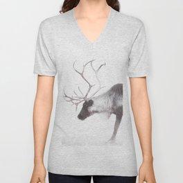 Reindeer Unisex V-Neck
