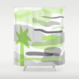 Palm Fade Shower Curtain