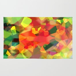 Abstract Polygon Forest Rug
