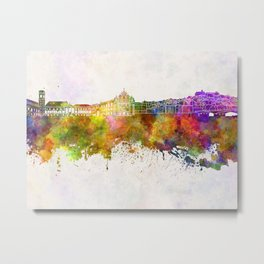 Coimbra skyline in watercolor background Metal Print
