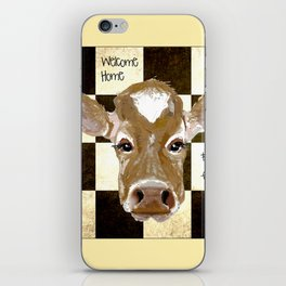 Farmhouse Cow, Welcome Home Farm Fresh iPhone Skin