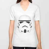 trooper V-neck T-shirts featuring Trooper by Charles Dew