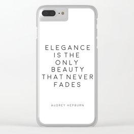 Audrey Hepburn Wall Art Fashion wall Art Audrey Hepburn Quotes Fashion Decor Girls Room Decor Printa Clear iPhone Case