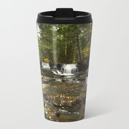 Peaceful Waterfalls Landscape Travel Mug