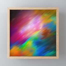 Abstract colorful creative watercolor brushstrokes Framed Mini Art Print