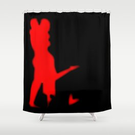Lovers In Red Background Shower Curtain