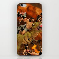 muscle iPhone & iPod Skins featuring Muscle Bro by Dave Collinson