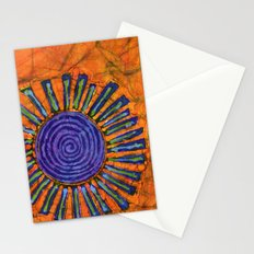 Orange and purple Floral batik Stationery Cards