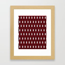 Camping Forest cabin chalet plaid red black and white minimal hipster gifts for festive christmas Framed Art Print