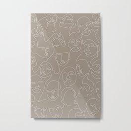 Skin Lace Metal Print