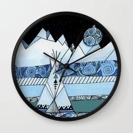 Blue Teepee Wall Clock