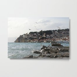 the old pier of Ohrid Metal Print
