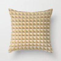 pyramid Throw Pillows featuring pyramid by Ioana Luscov