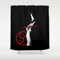 bdsm Shower Curtains featuring BDSM by Vanesa Abati