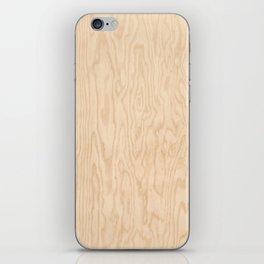 Wooden texture pattern iPhone Skin