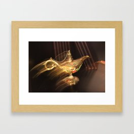 Flying Lamp Framed Art Print