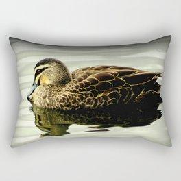 Pacific Black Duck (Anas superciliosa) Rectangular Pillow