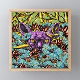 The Sphynx and the Flowers Framed Mini Art Print