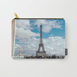 France Photography - The Eiffel Tower Seen From Palais De Chaillot Carry-All Pouch