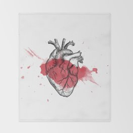 Anatomical heart - Art is Heart  Throw Blanket